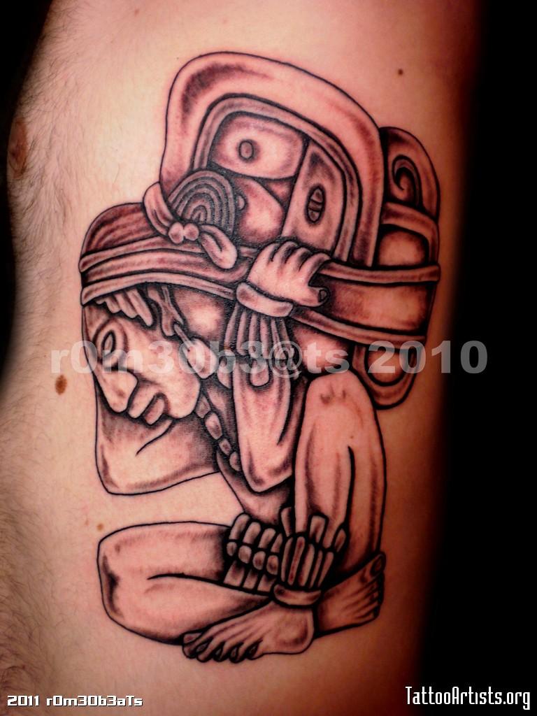 Aztec Temple Tattoo mayan tattoos